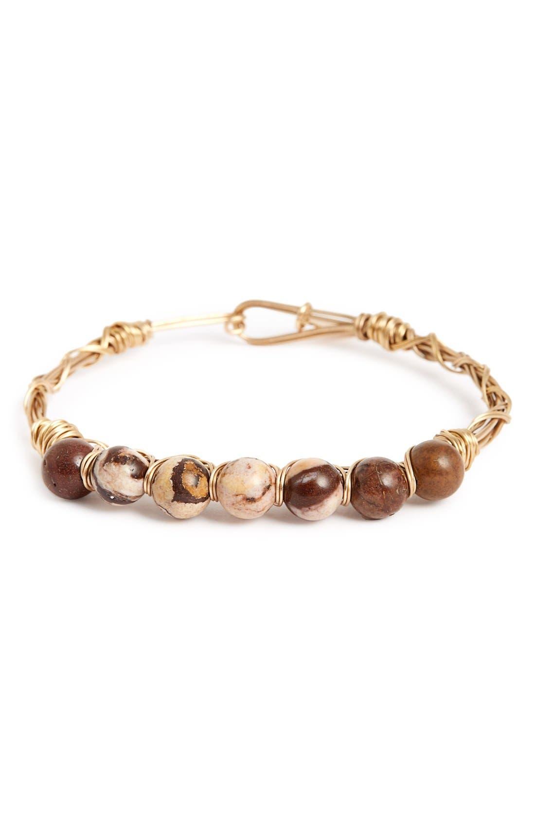 Main Image - Canvas Jewelry Wire Wrap Stone Bracelet