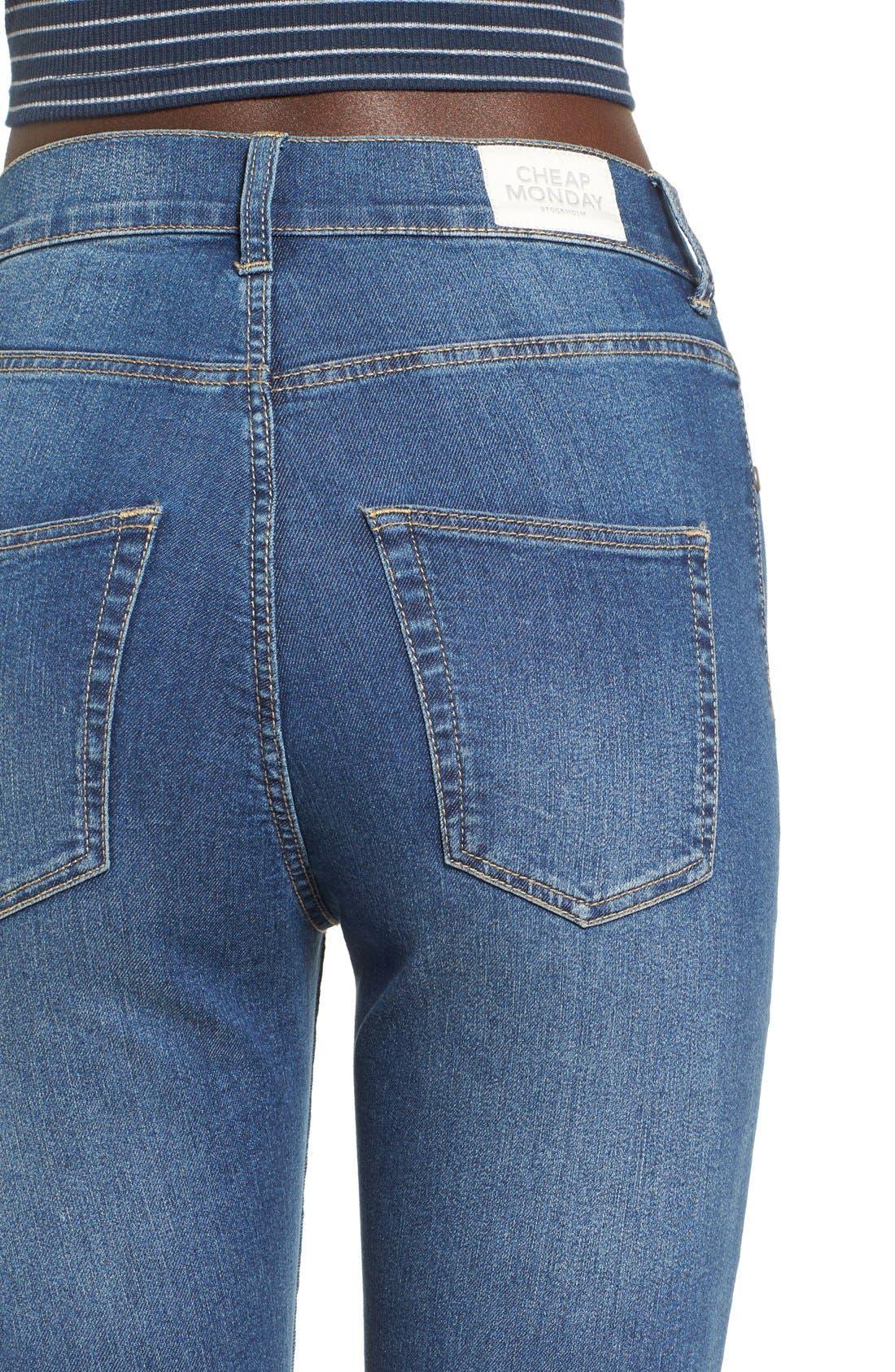 Alternate Image 4  - Cheap Monday 'High Spray' High Rise Skinny Jeans