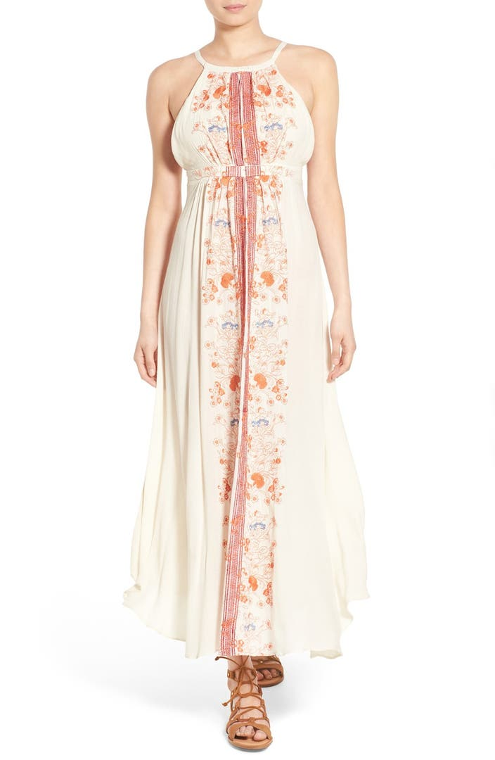 Sun shadow embroidered maxi dress nordstrom