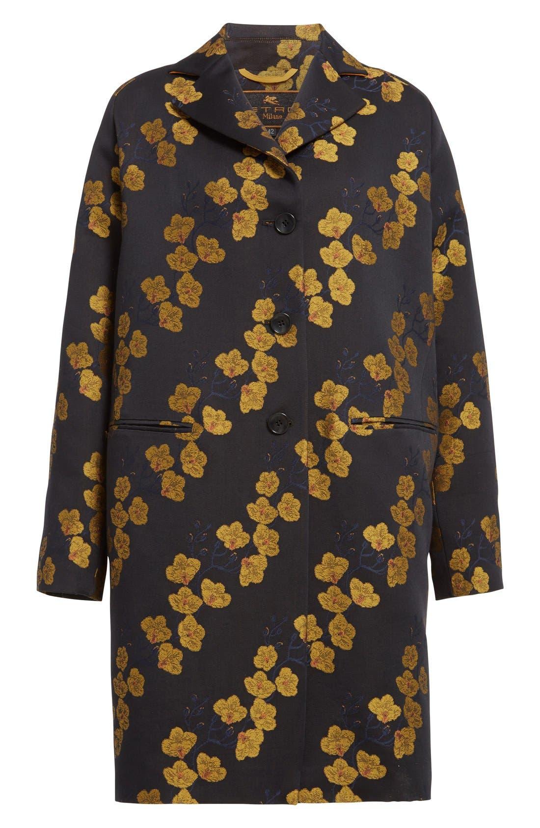 Alternate Image 4  - Etro Jacquard Cocoon Coat