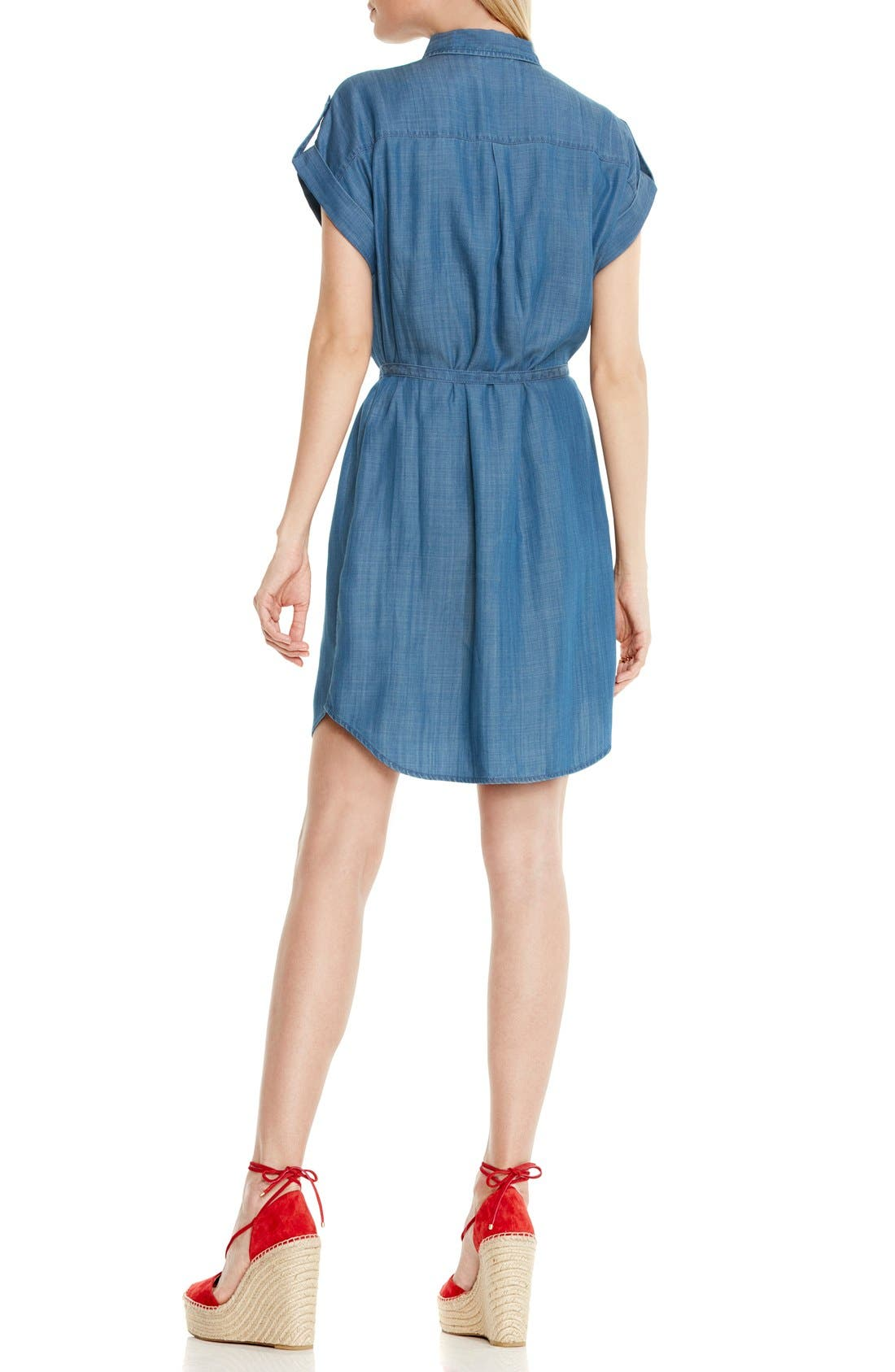 Alternate Image 4  - Two by Vince Camuto Belted Chambray Shirtdress