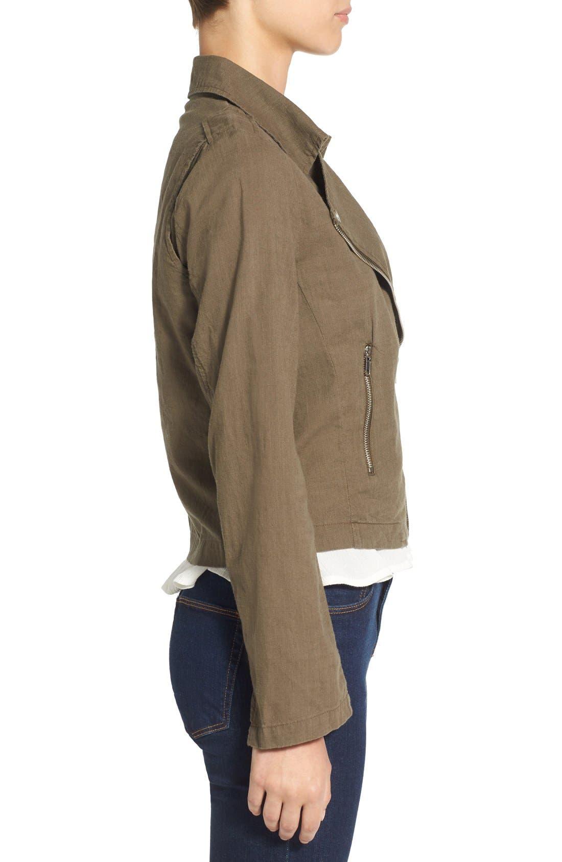 Alternate Image 3  - BP. Lightweight Cotton Moto Jacket