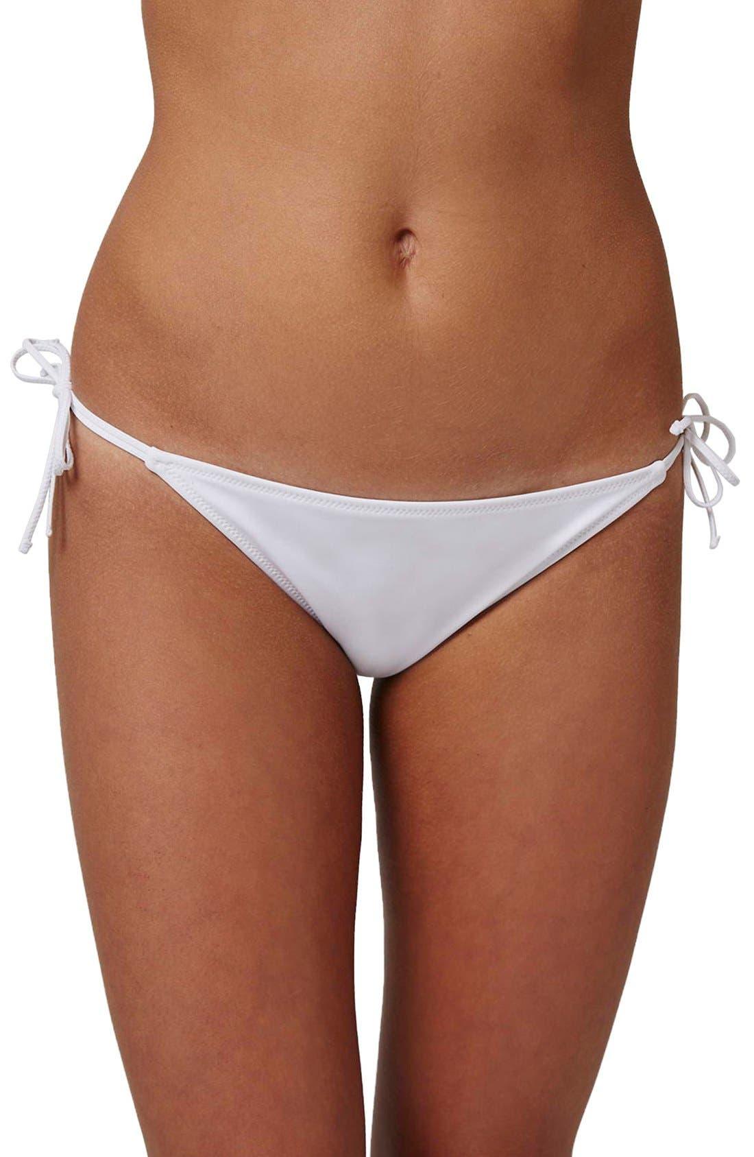 Topshop Slinky Side Tie Bikini Bottoms