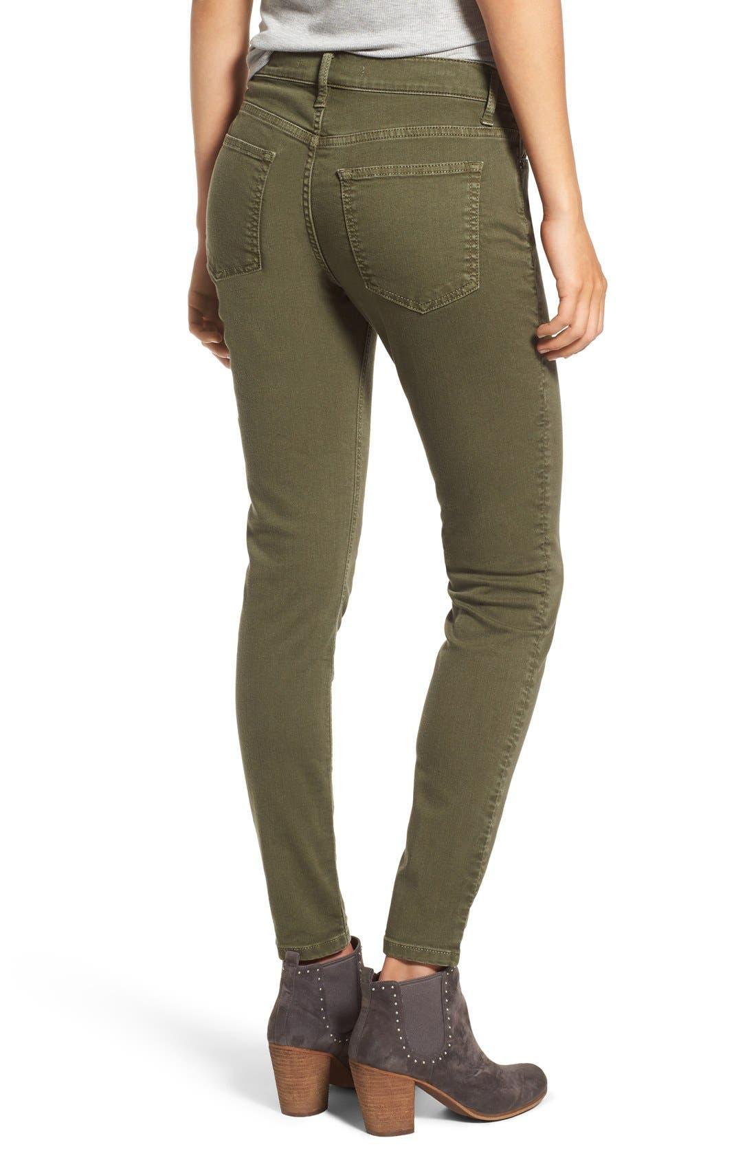Alternate Image 2  - SP Black Stretch Cotton Skinny Jeans