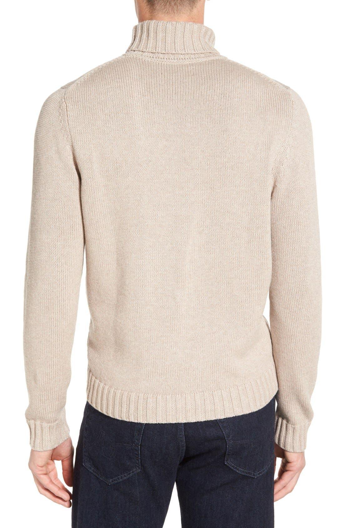 Alternate Image 2  - Nordstrom Men's Shop Chunky Turtleneck Sweater (Regular & Tall)
