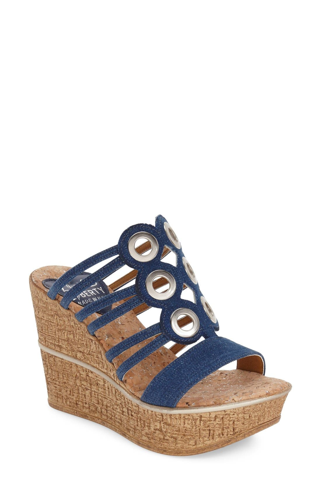 LOVE AND LIBERTY 'Elise' Wedge Sandal