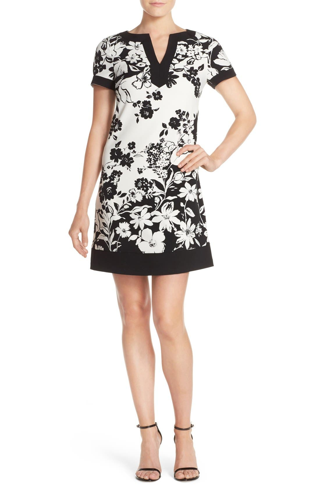 Alternate Image 1 Selected - Adrianna Papell Floral Print Shift Dress