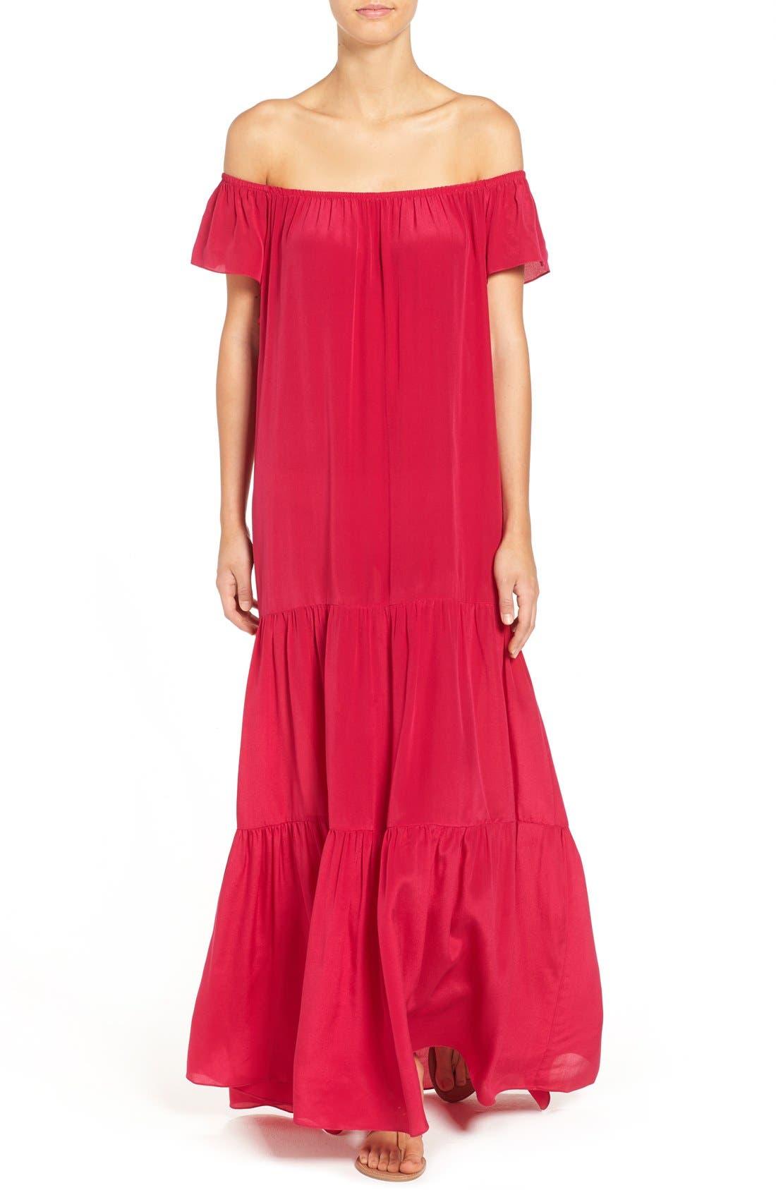 Alternate Image 4  - Soler 'Thalia' Off the Shoulder Silk Maxi Dress