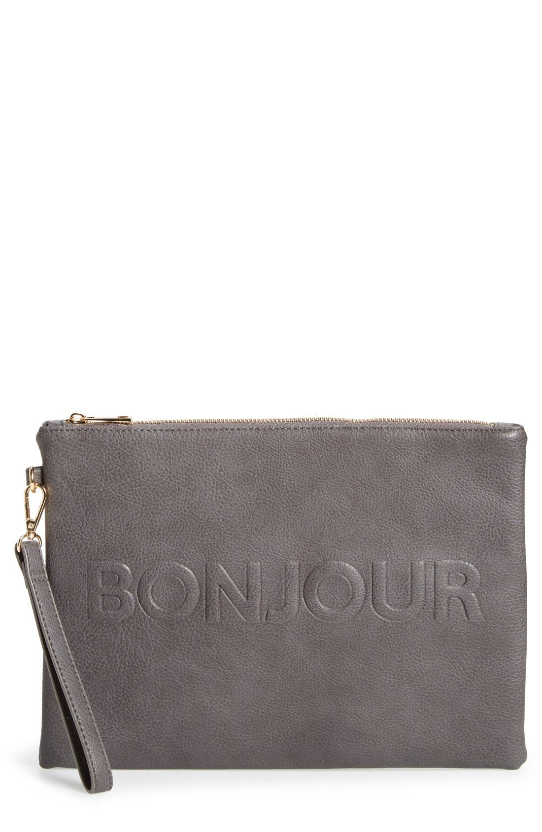 Main Image - Sole Society 'Justine - Conversation' Oversize Clutch