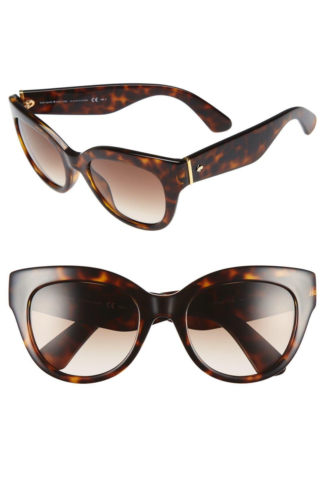 KATE SPADE NEW YORK 'sharlots' 52mm sunglasses