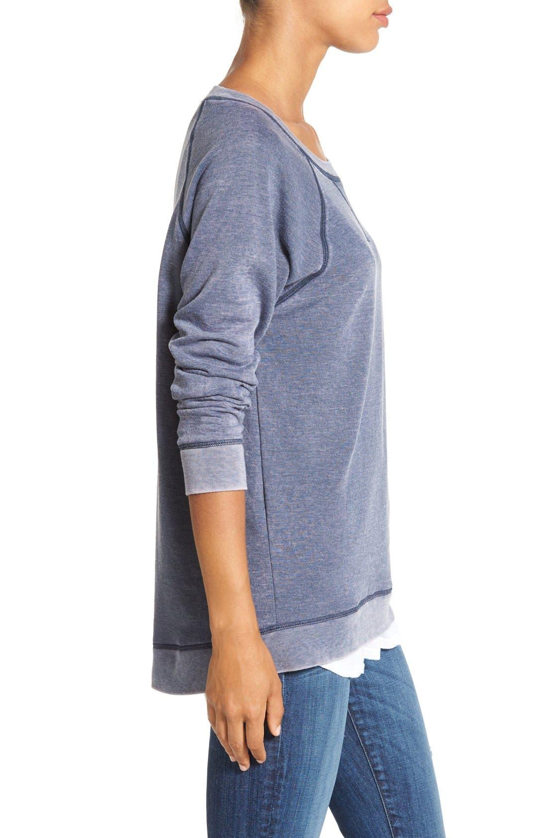 Alternate Image 3  - Caslon® Burnout Sweatshirt