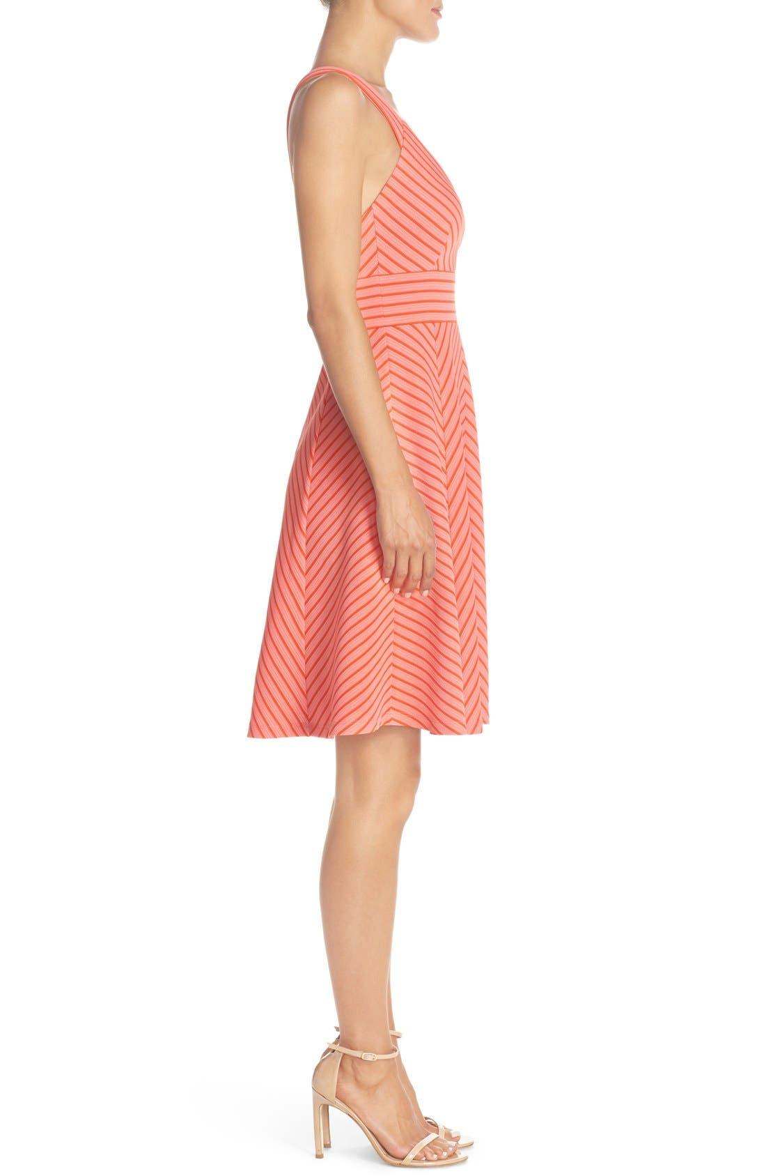 Alternate Image 3  - Adrianna Papell Stripe Ottoman Knit Sundress (Petite)