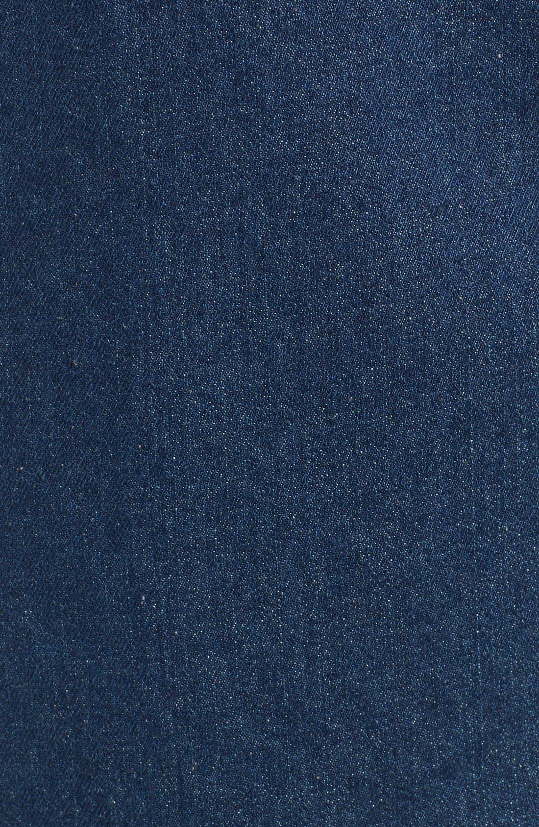 Alternate Image 4  - ASTR 'Francisca' Button Front Denim Skirt