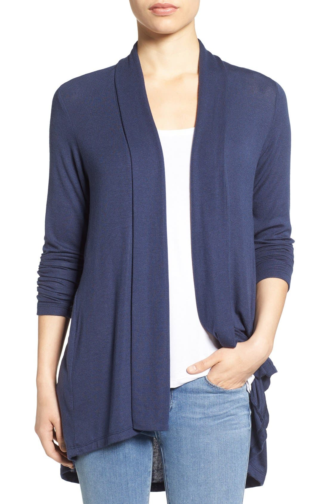 Alternate Image 1 Selected - Bobeau Long Cardigan