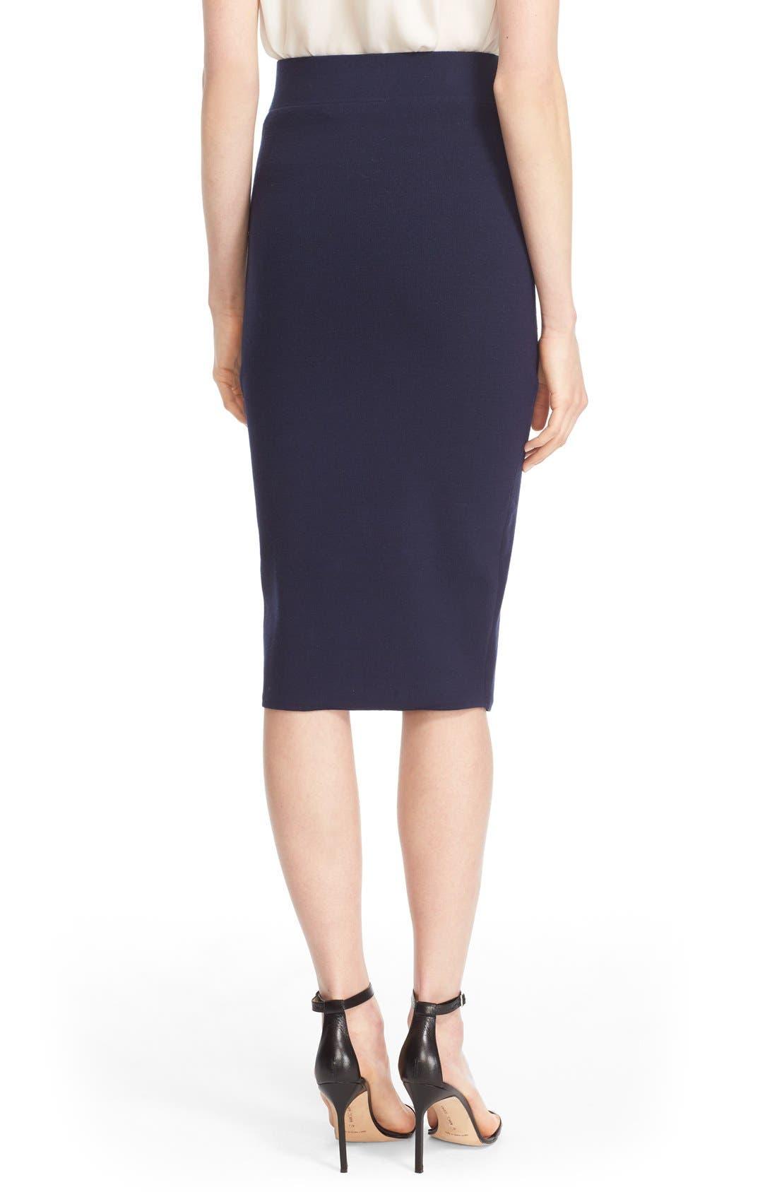Alternate Image 2  - Milly Structured Side Slit Skirt