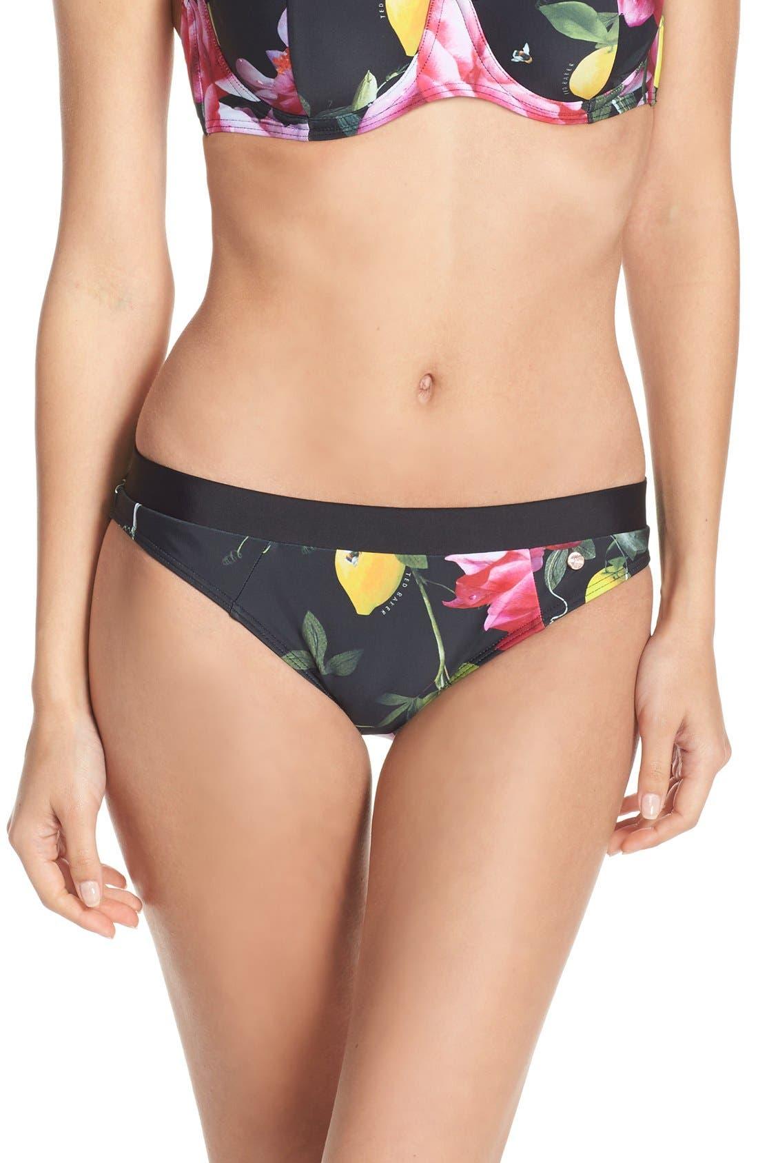 TED BAKER LONDON 'Citrus Bloom' Bikini Bottoms
