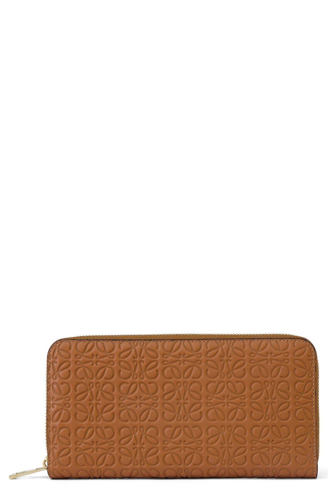 LOEWE Leather Zip Around Wallet
