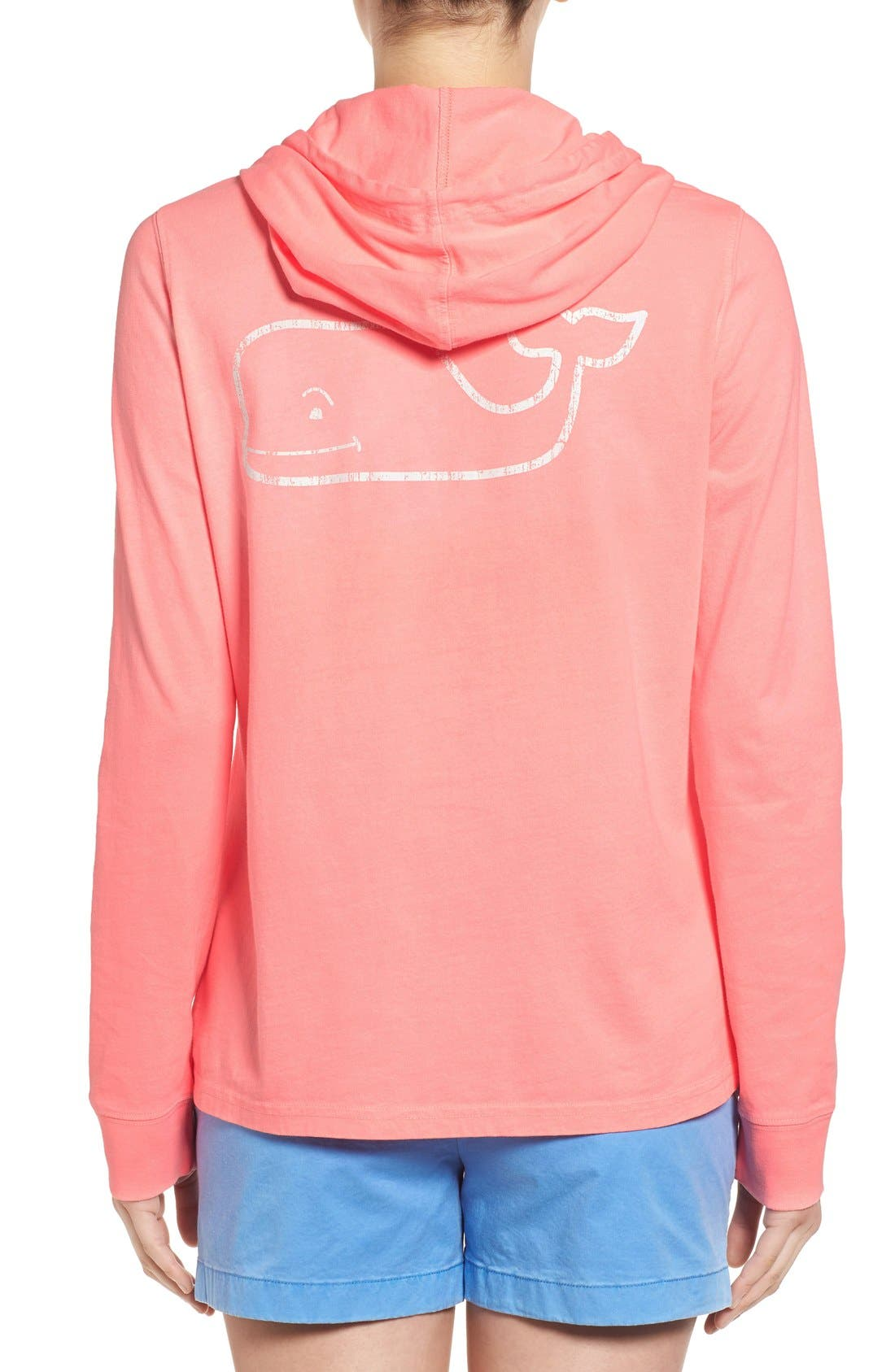 Alternate Image 2  - Vineyard Vines Whale Graphic Long Sleeve Hooded Tee
