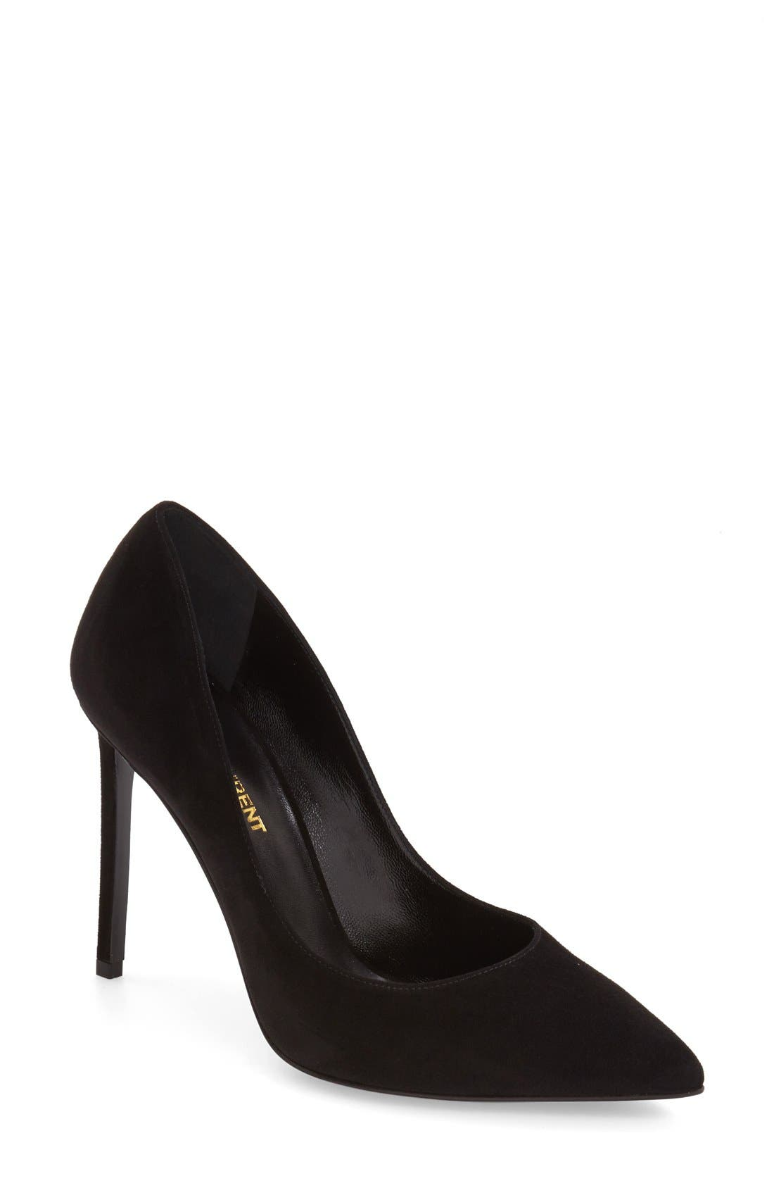 Alternate Image 1 Selected - Saint Laurent 'Paris Skinny' Pointy Toe Pump (Women)