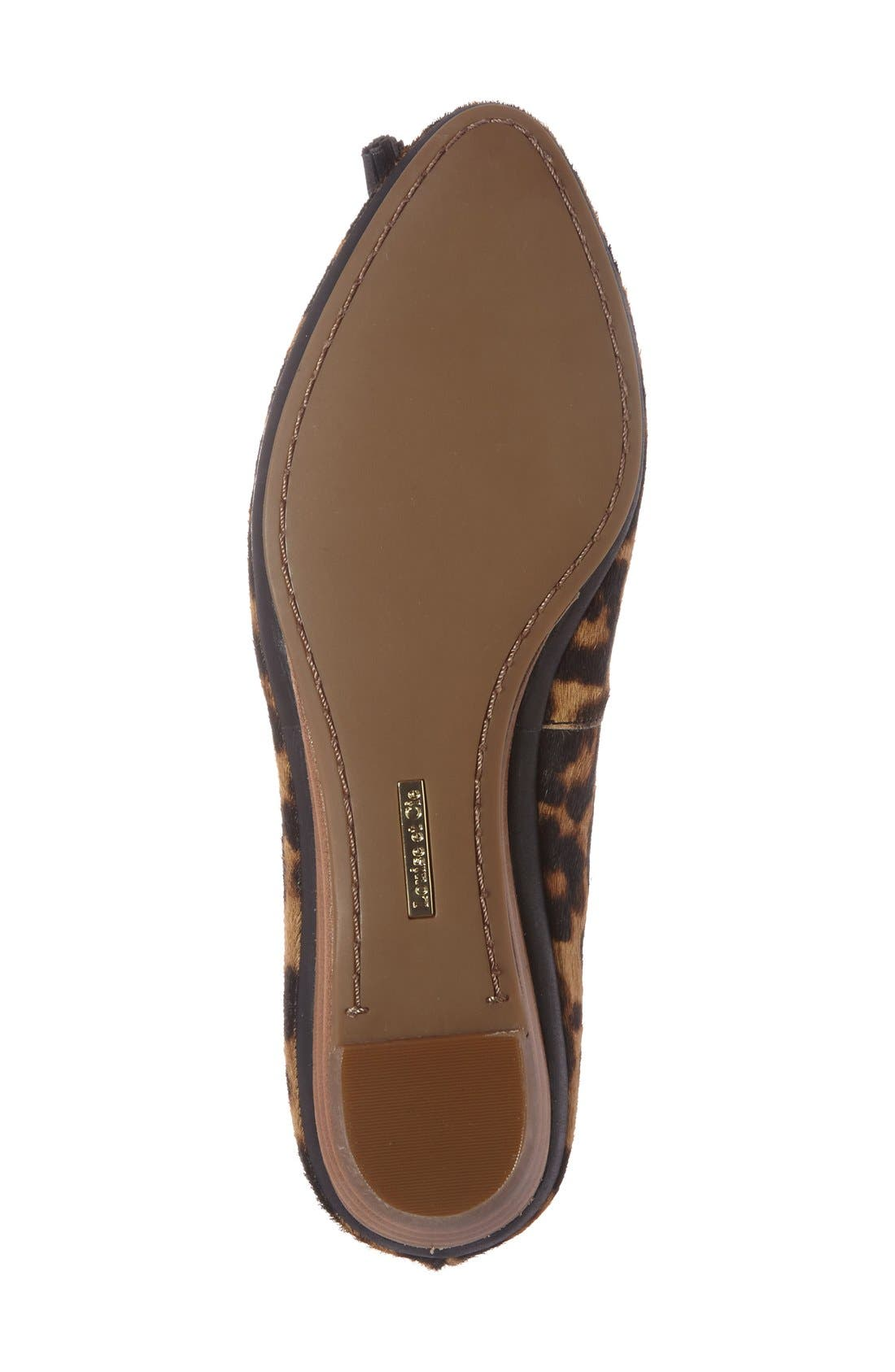 Alternate Image 4  - Louise et Cie 'Aradella' Genuine Calf Hair Pointy Toe Flat (Women) (Nordstrom Exclusive)