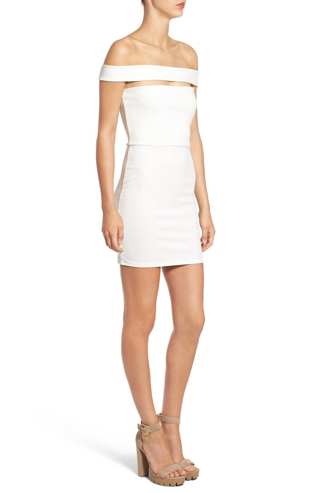 Alternate Image 3  - Missguided Cutout Off the Shoulder Body-Con Dress