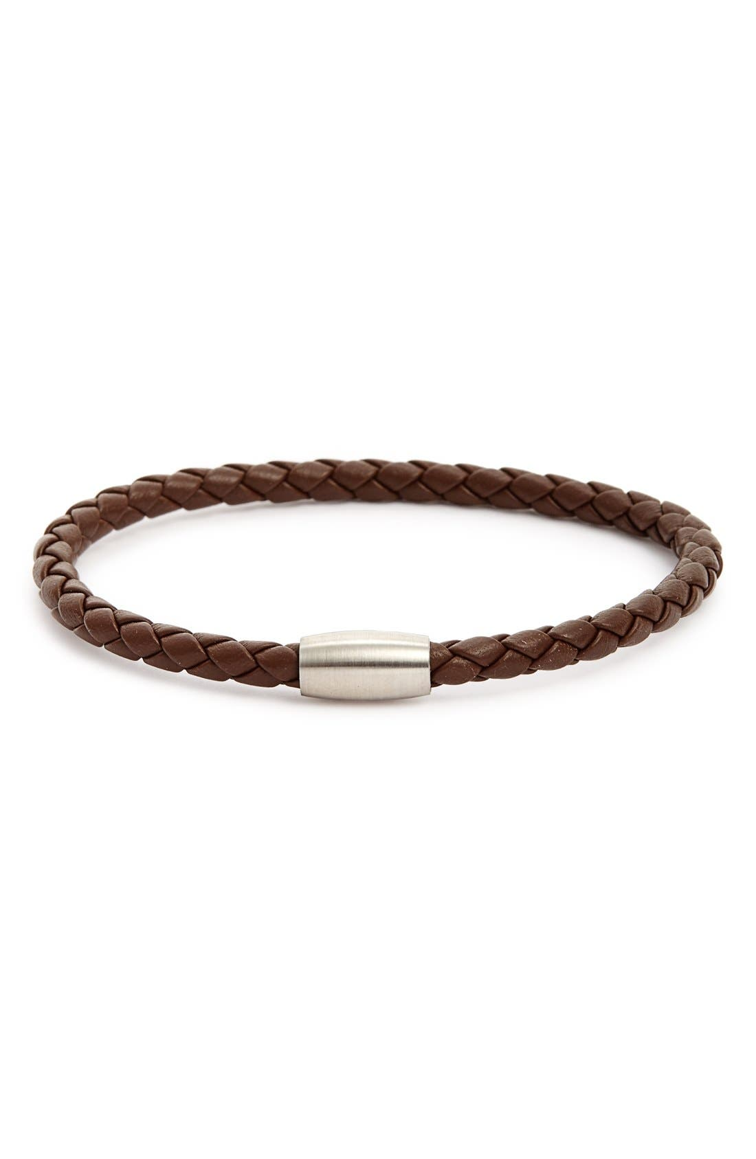 LINK UP Woven Leather Bracelet