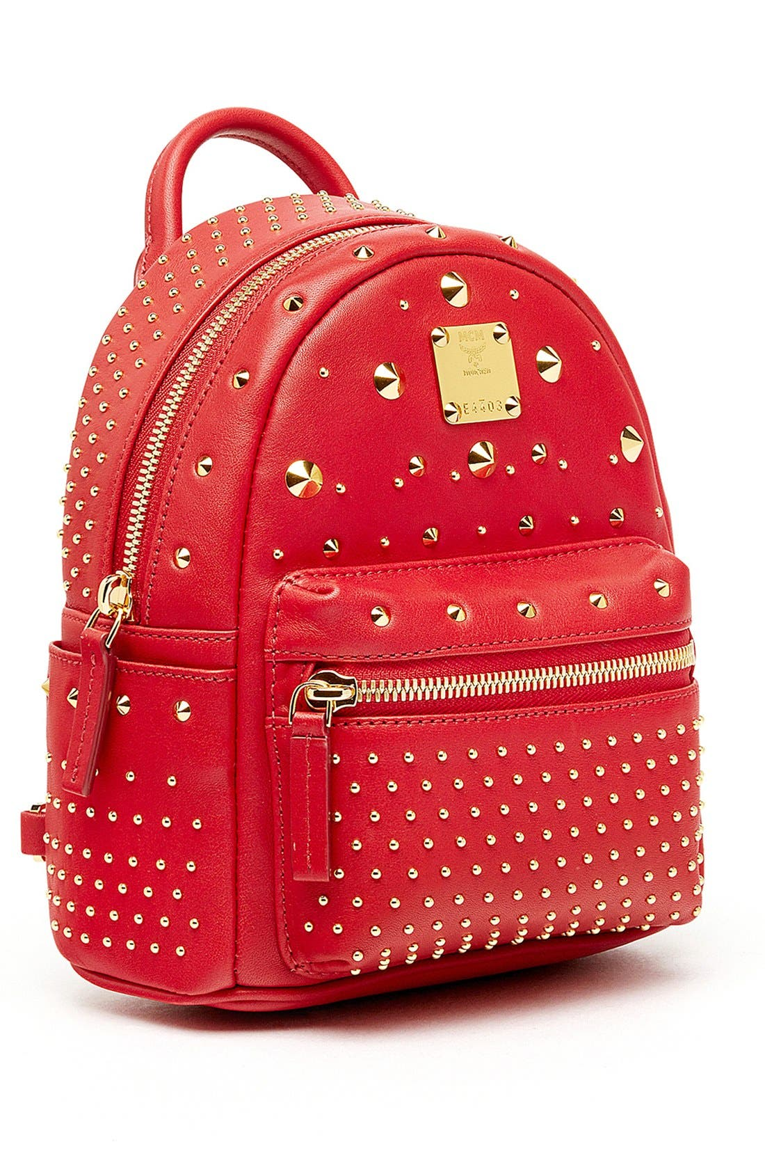 Alternate Image 4  - MCM 'X Mini Stark - Bebe Boo' Studded Leather Backpack