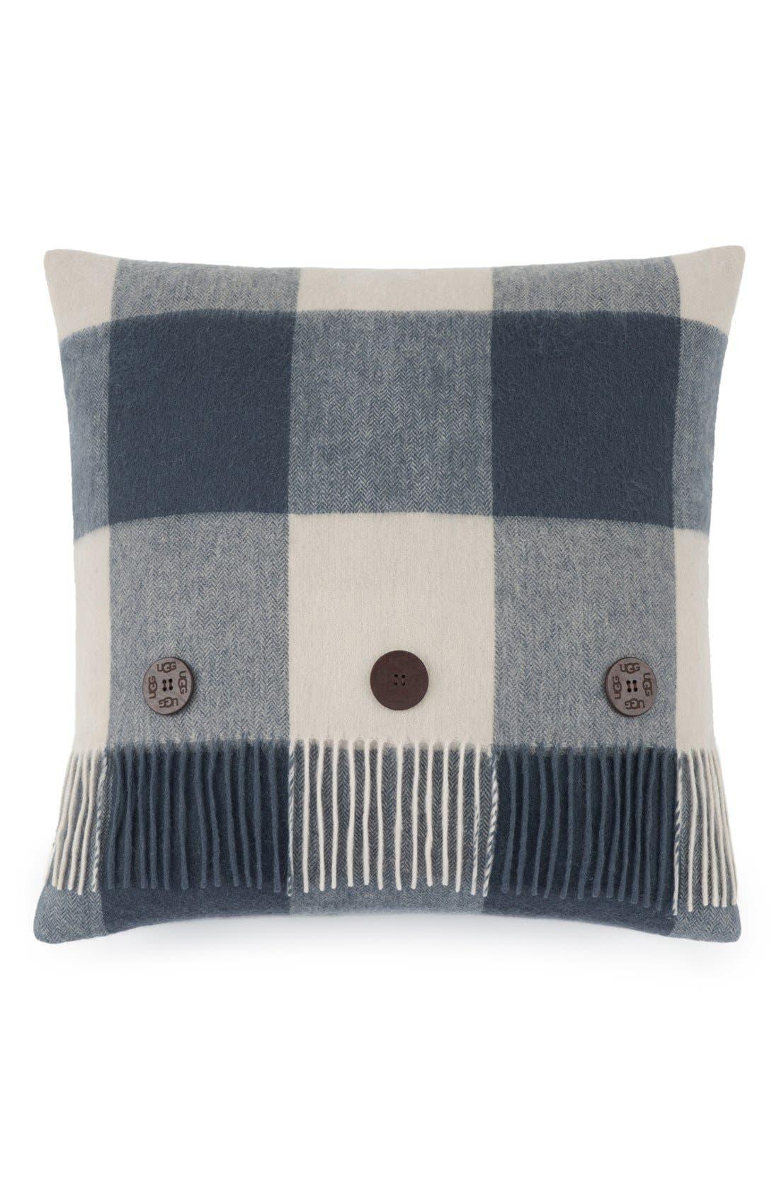 UGG® Buffalo Plaid Wool Pillow