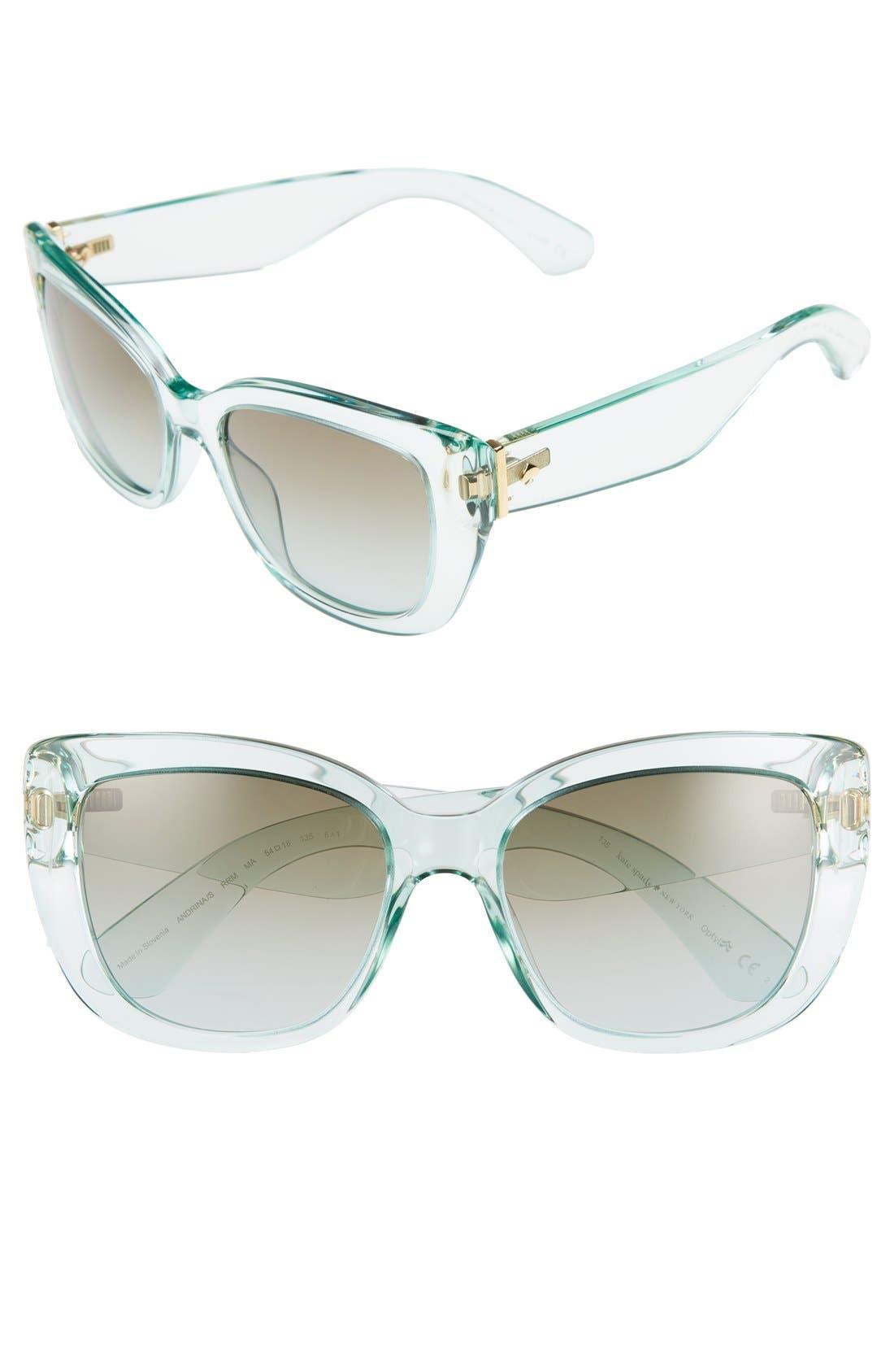 Alternate Image 1 Selected - kate spade new york 'andris' 54mm sunglasses
