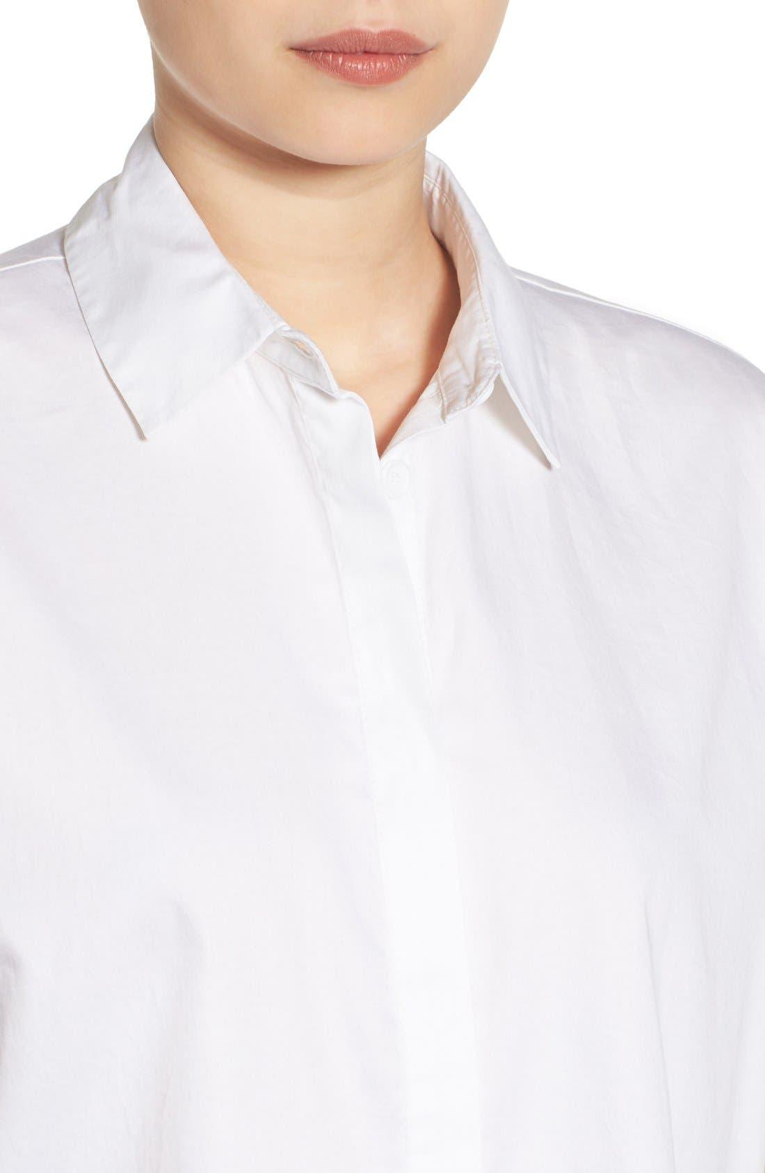 Alternate Image 4  - KENDALL + KYLIE Back Lace-Up Shirt