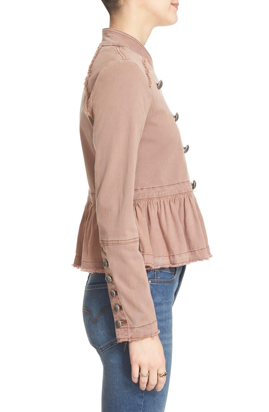 Alternate Image 3  - Free People Ruffle Hem Military Jacket