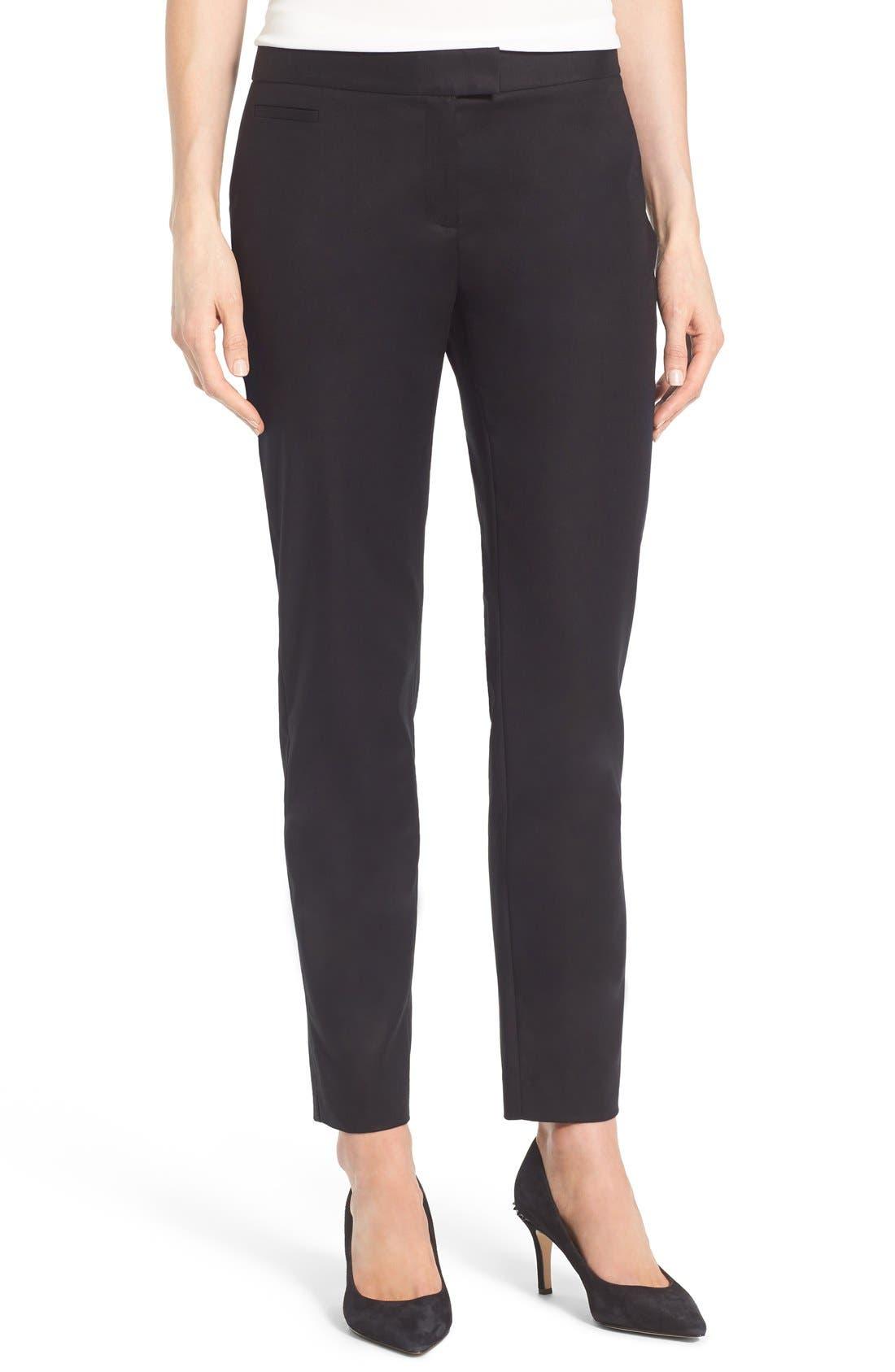 Main Image - Cece Double Weave Slim Pants
