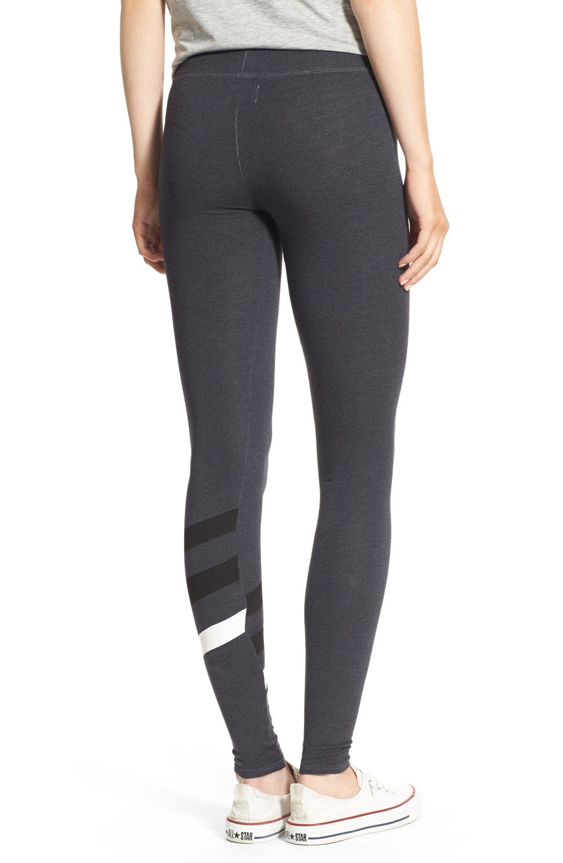 Alternate Image 2  - Sundry Stripe Detail Yoga Pants
