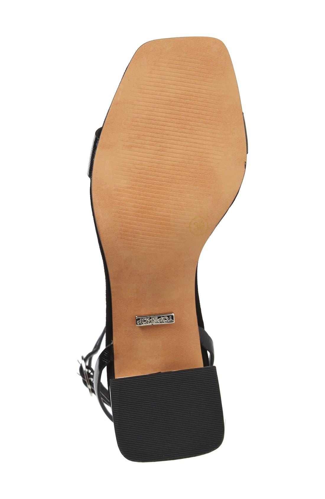Alternate Image 4  - Topshop 'Nipper' Ankle Wrap Sandal (Women)