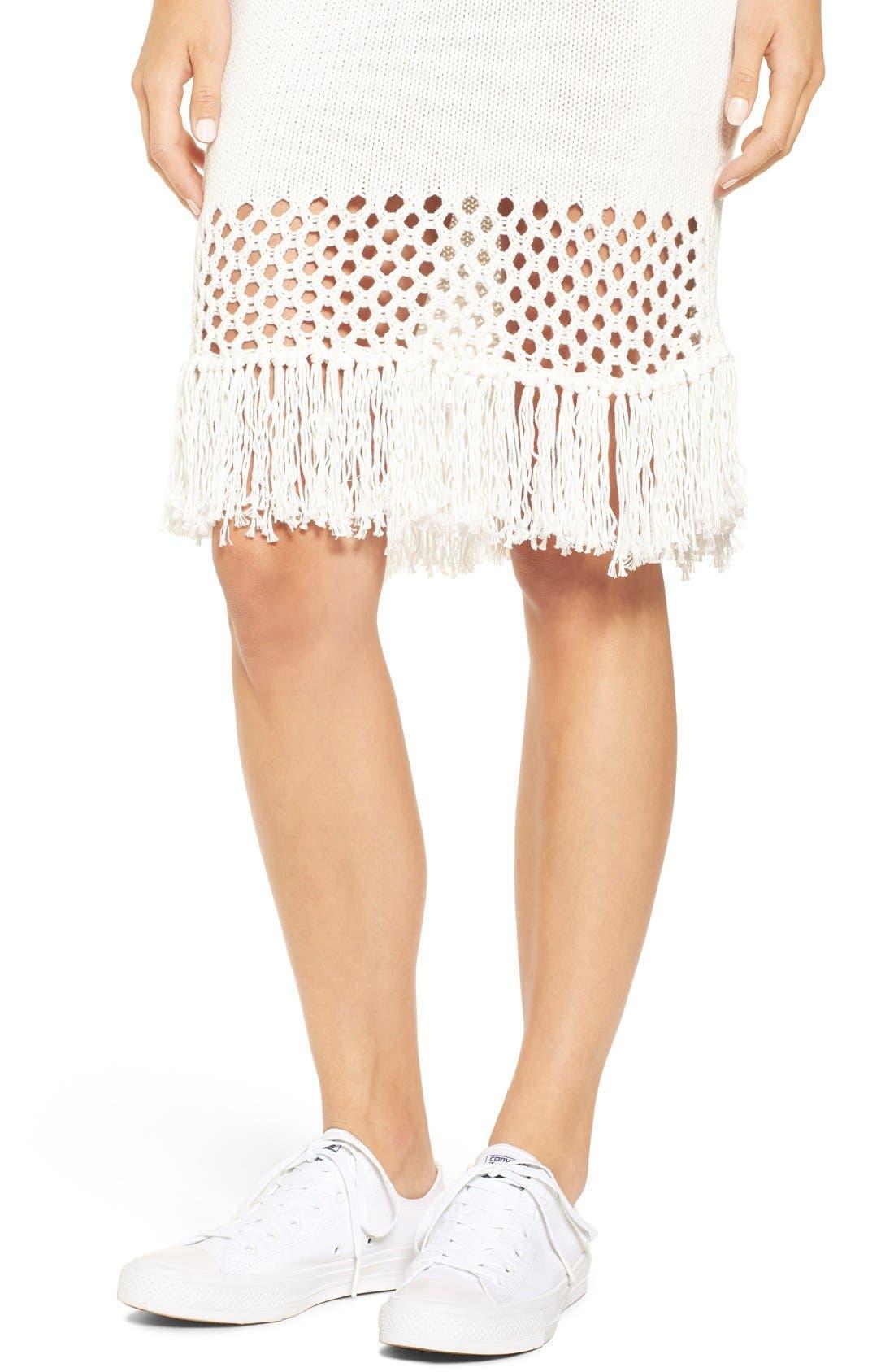 Alternate Image 4  - Amour Vert 'Helen' Illusion Knit Cotton Dress