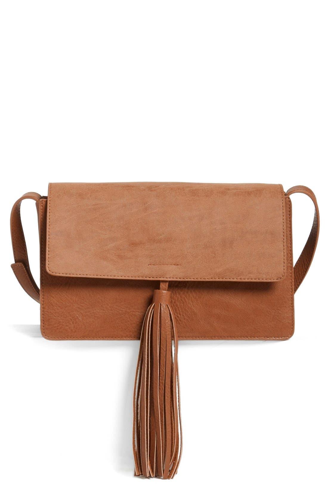 Alternate Image 1 Selected - BP. Tassel Faux Leather Crossbody Bag