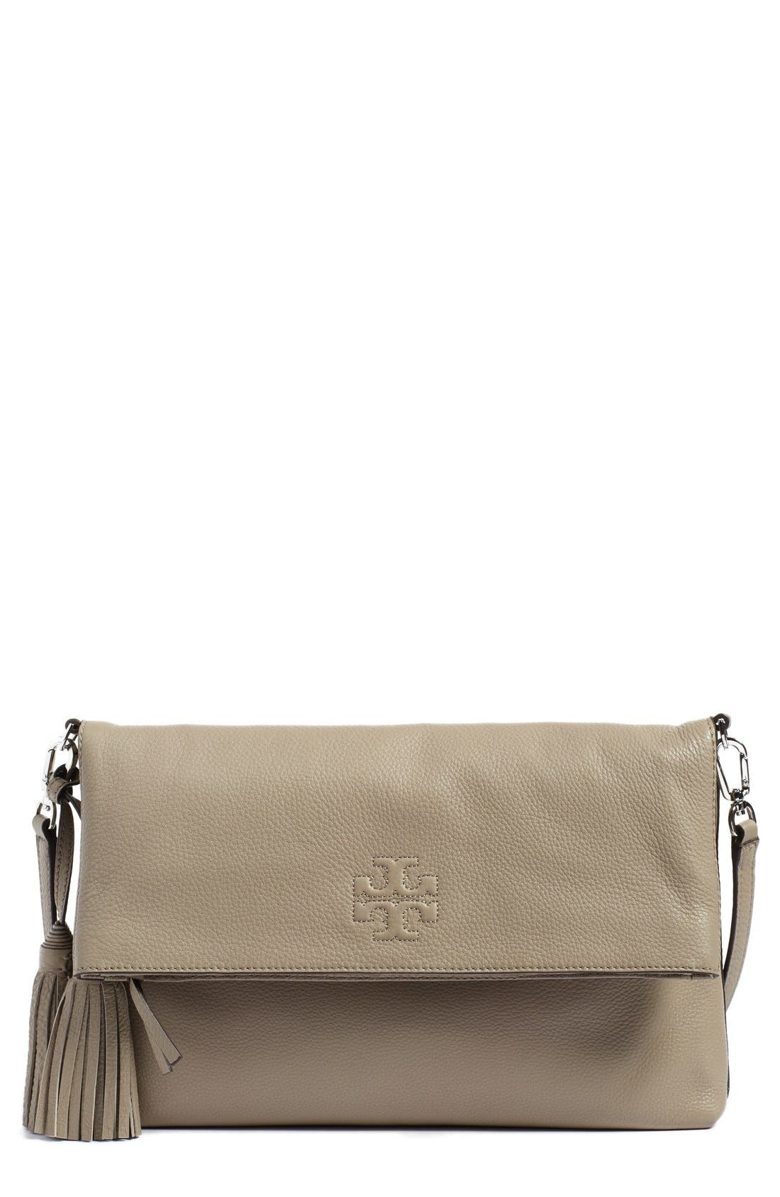 Alternate Image 1 Selected - Tory Burch 'Thea' Leather Foldover Crossbody Bag