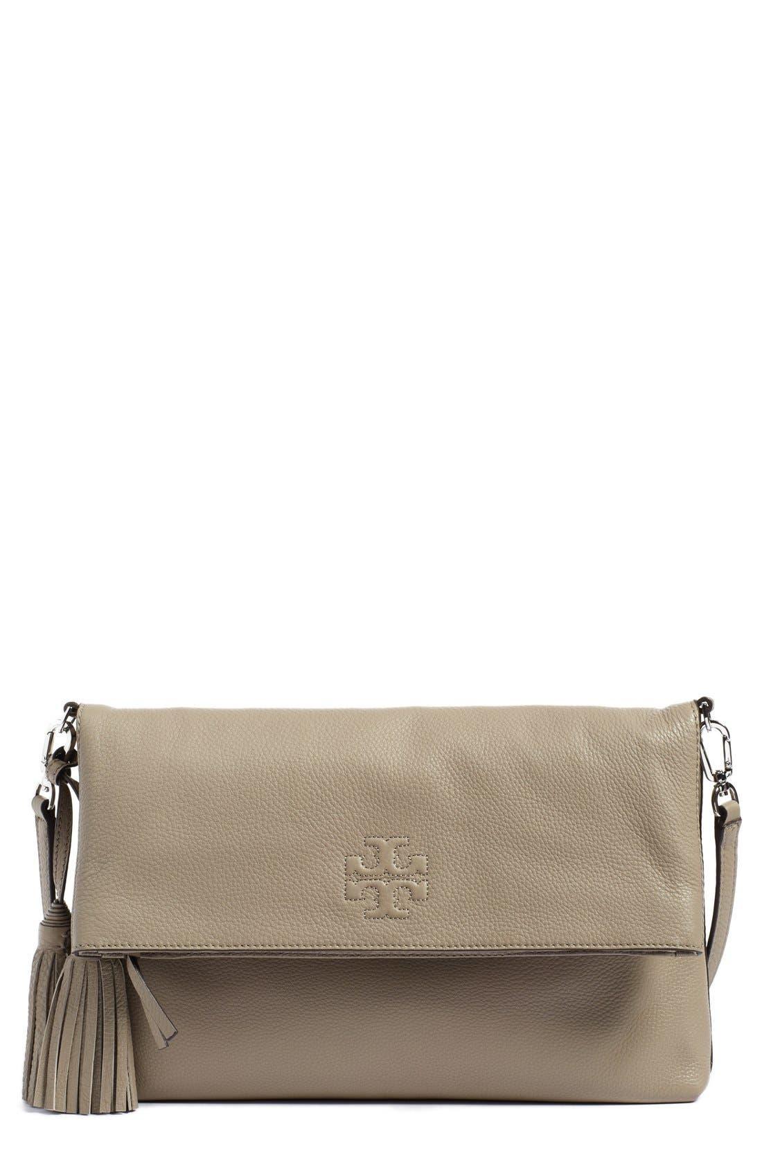 Main Image - Tory Burch 'Thea' Leather Foldover Crossbody Bag
