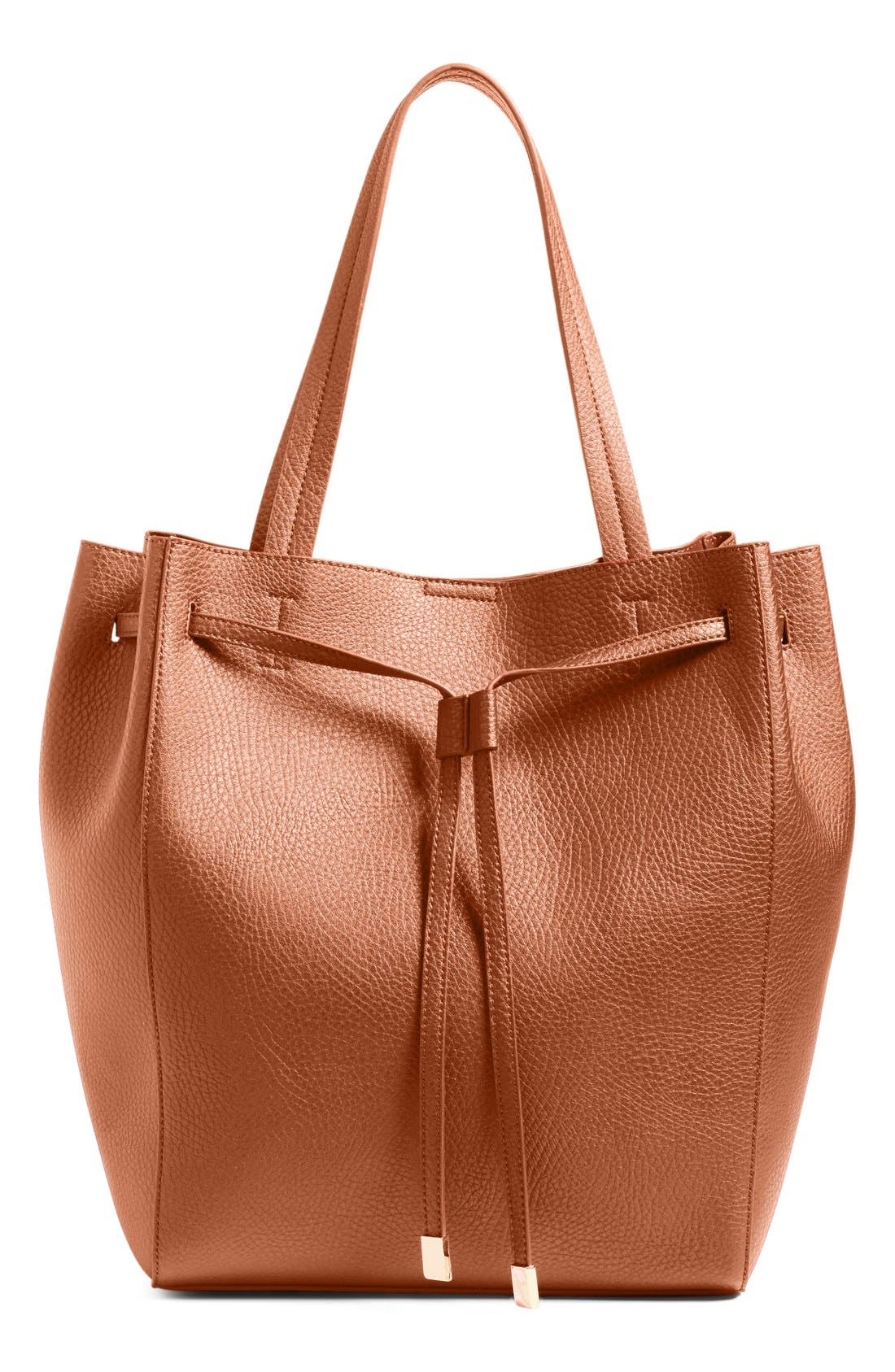 Main Image - BP. Faux Leather Drawstring Tote