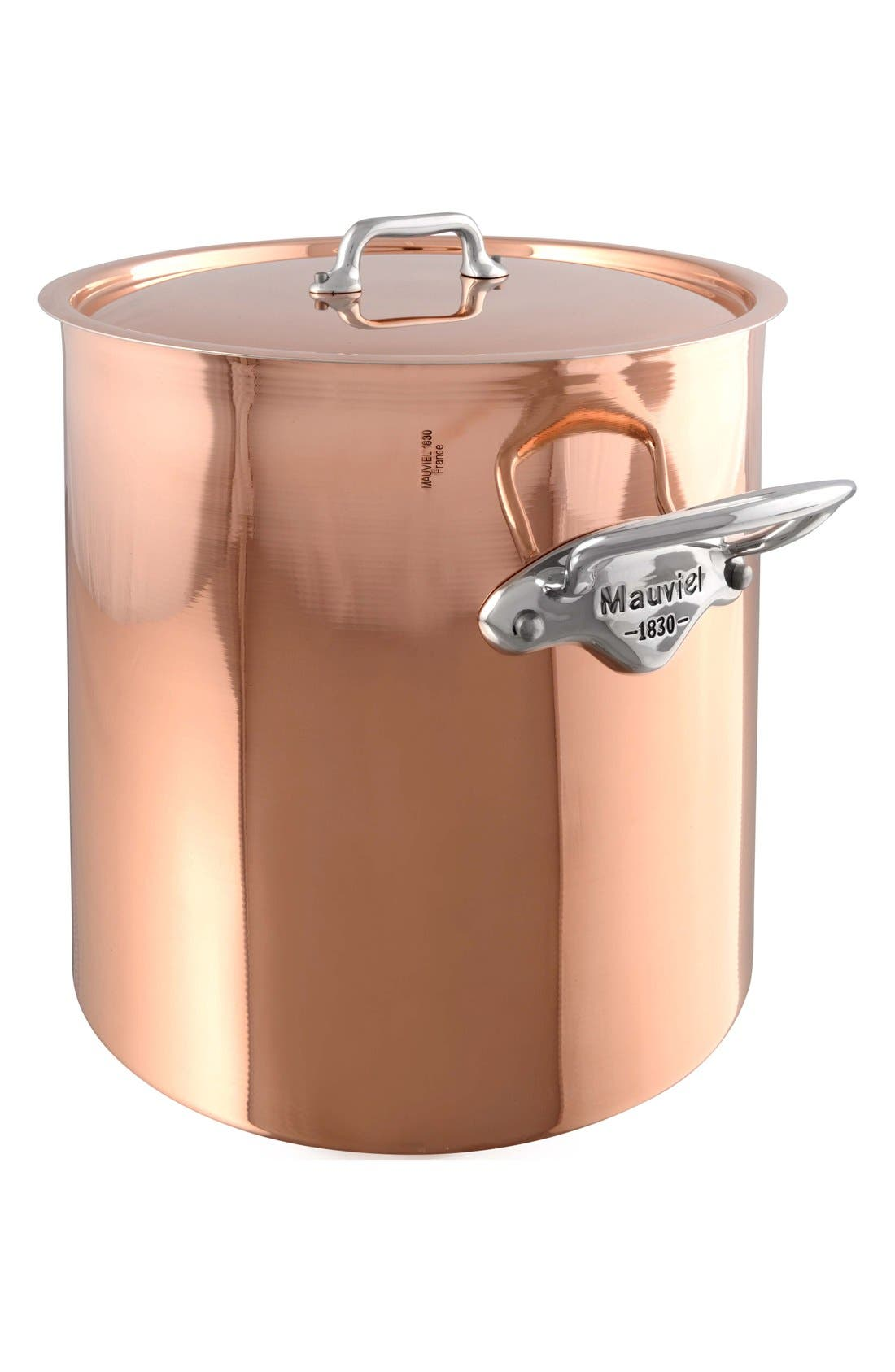 Mauviel M'héritage - M'150s Copper & Stainless Steel Stew Pot with Copper Lid