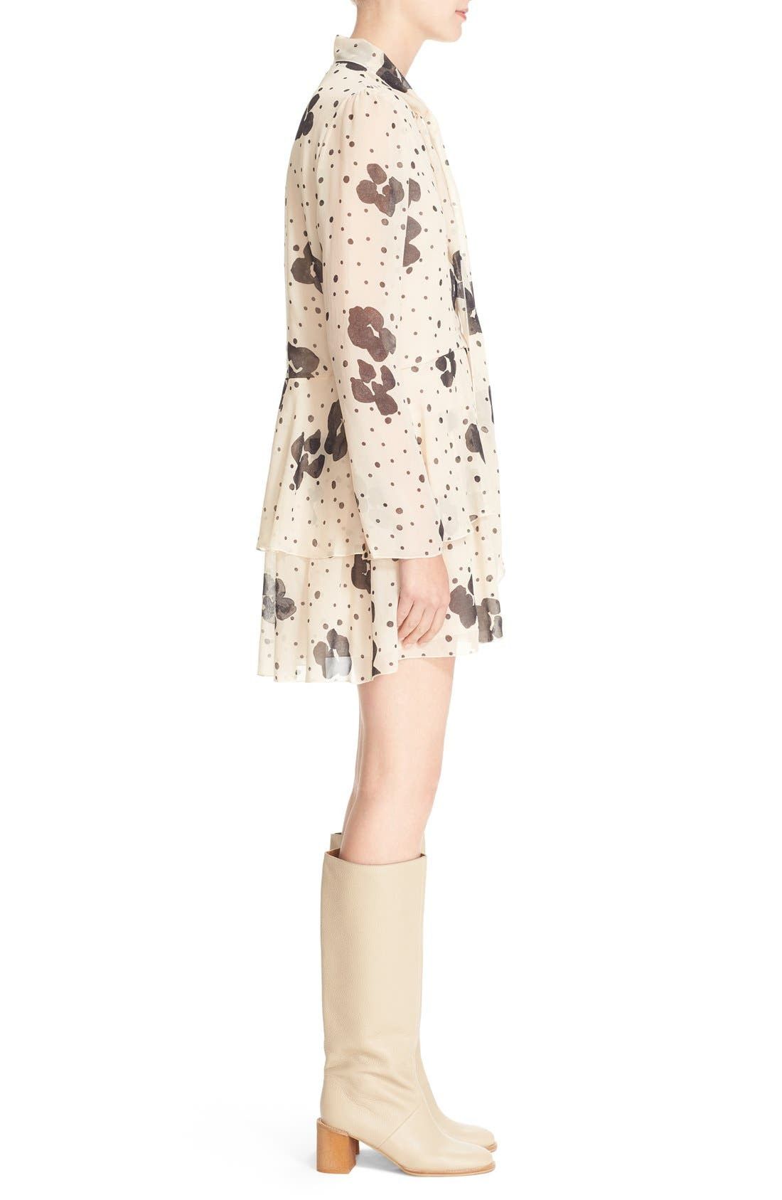 Alternate Image 3  - See by Chloé Leopard Print Silk Georgette Dress