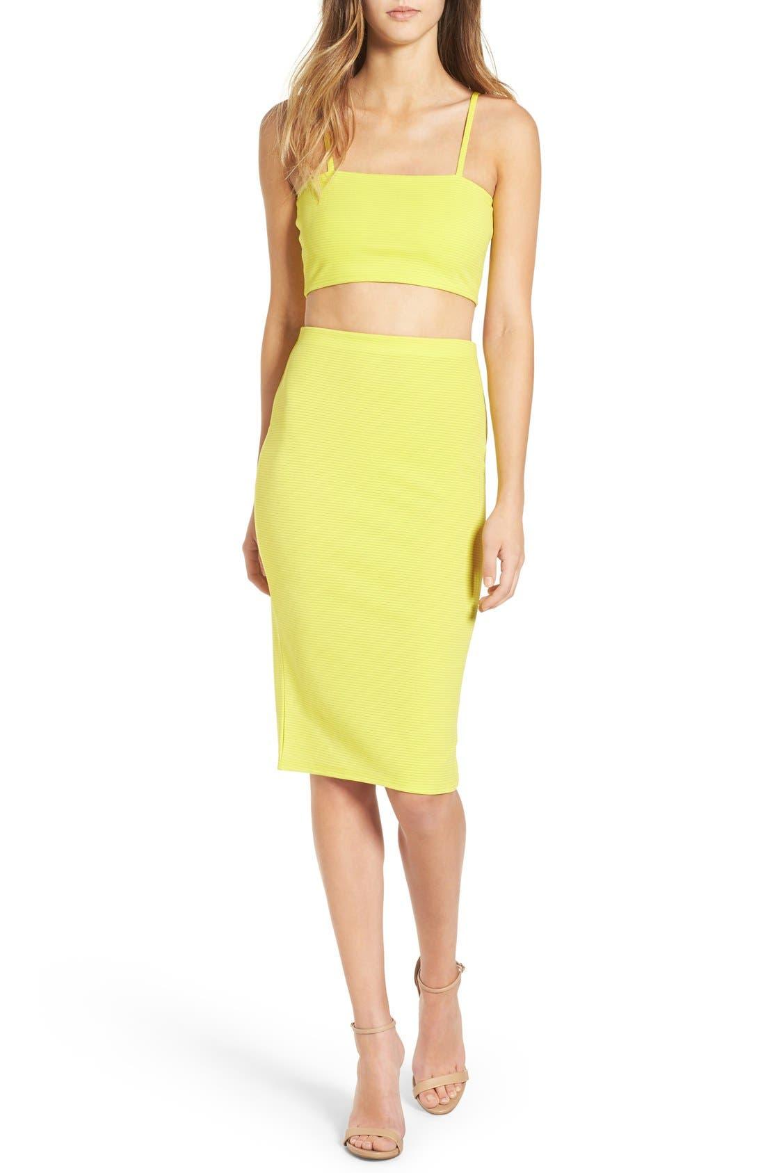 Alternate Image 4  - Missguided Ribbed Midi Skirt
