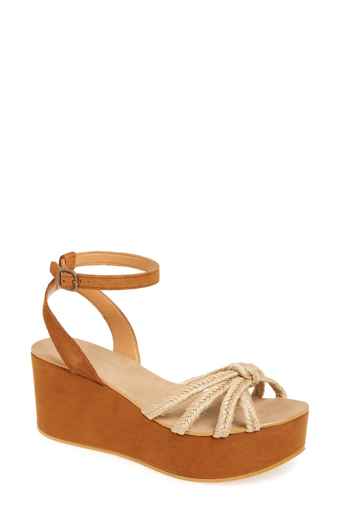 Topshop 'Weave' Platform Wedge Sandal (Women)
