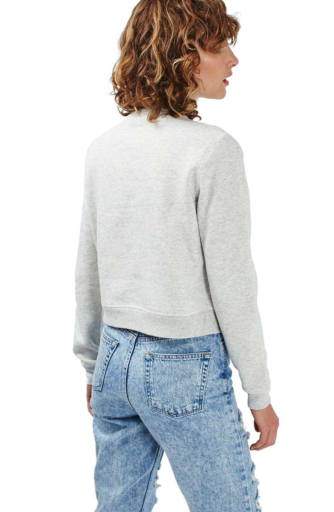 Alternate Image 3  - Topshop Crochet Daisy Sweatshirt