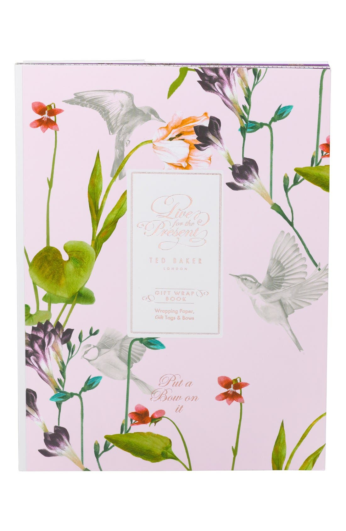 Main Image - Wild and Wolf x Ted Baker London 'Live in the Present' Gift Wrap Book