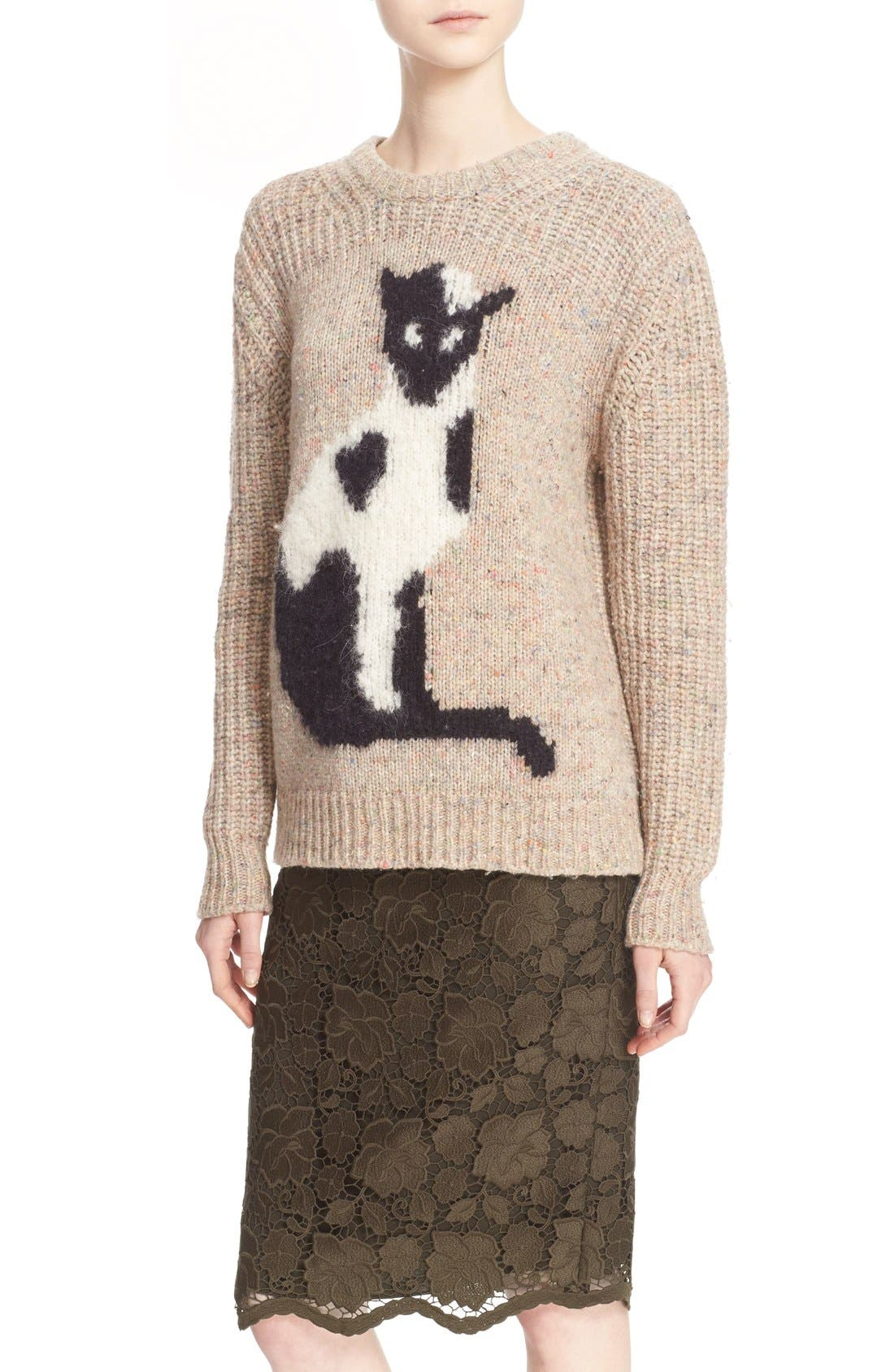 Alternate Image 5  - N°21 Cat Intarsia Knit Sweater