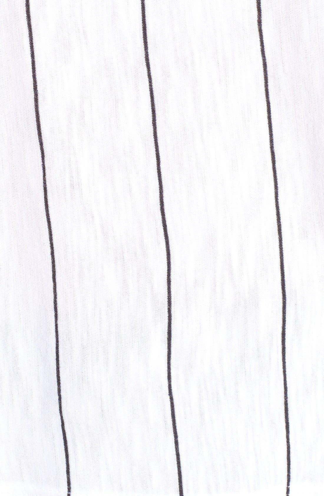 Alternate Image 5  - Michelle by Comune Sideways Stripe Boxy Tee