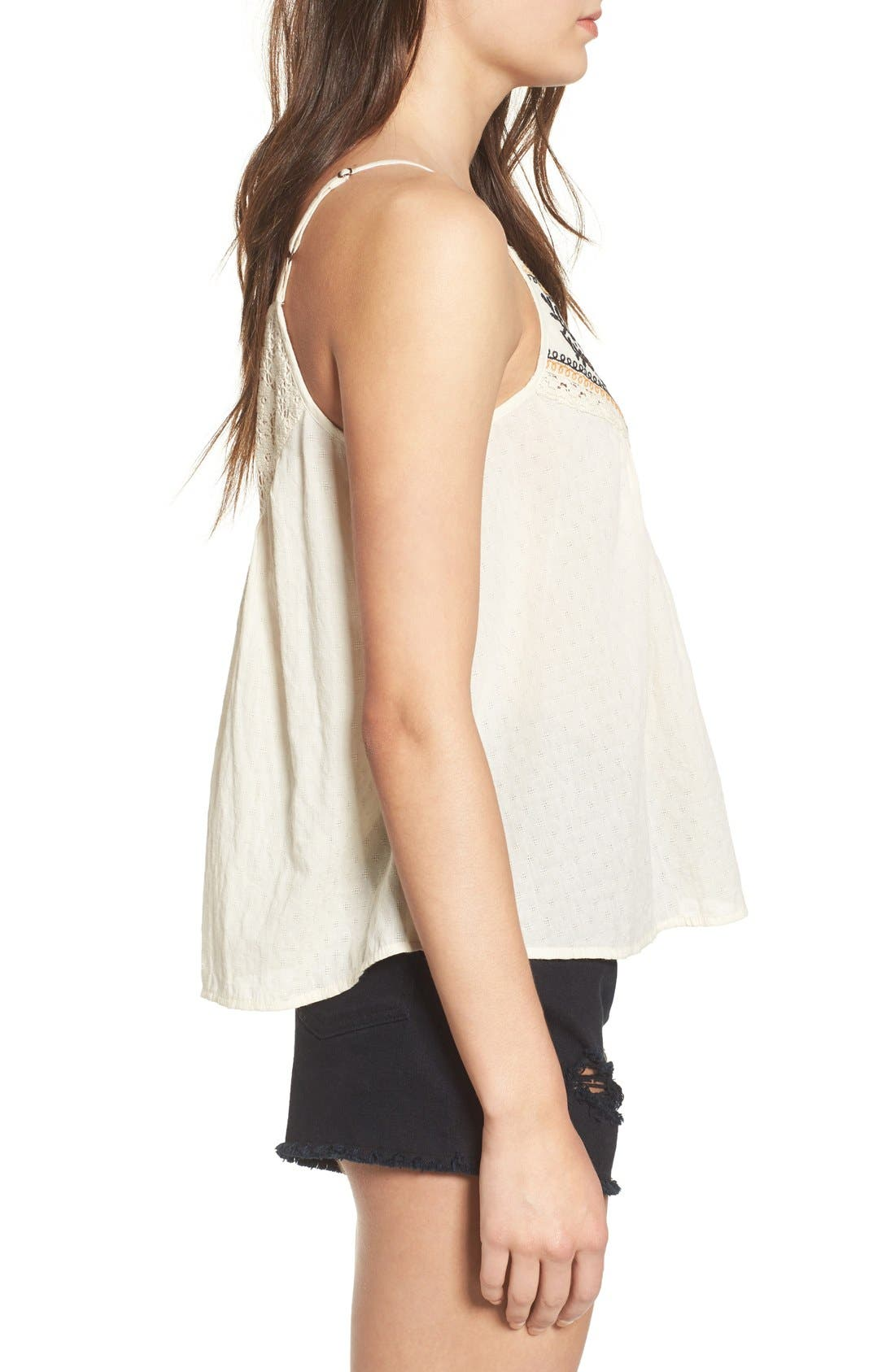 Alternate Image 3  - Band of Gypsies Embroidered Woven Tank