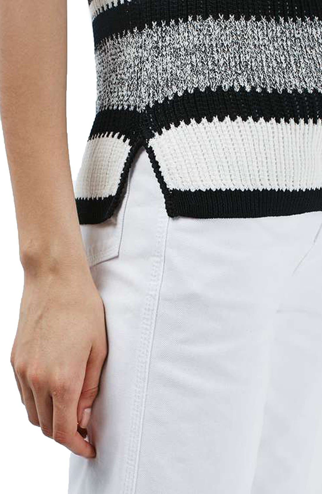 Alternate Image 5  - Topshop Monochrome Stripe Sweater Vest