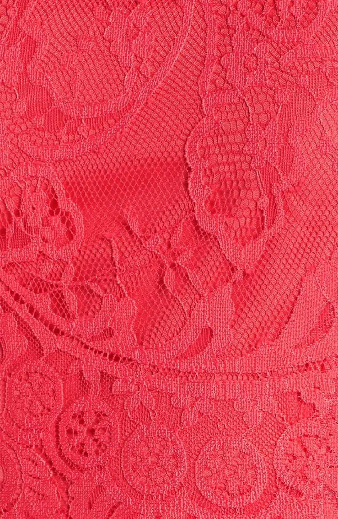 Alternate Image 5  - BB Dakota 'Rhianna' Illusion Yoke Lace Fit & Flare Dress (Nordstrom Exclusive)